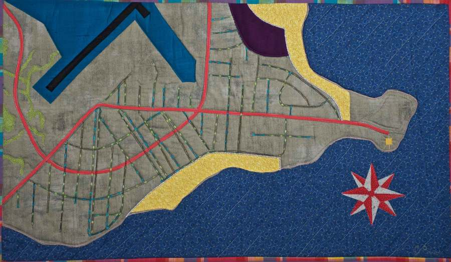 lordship map quilt