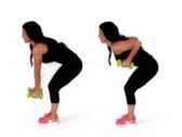 Bent Over Row Fat Exercise being done by Trainer Christina Carlyle