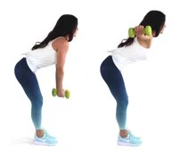 Back Fly Back Fat Exercise being done by Trainer Christina Carlyle