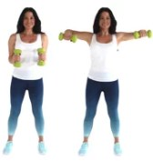 Chicken Wings back fat Exercise being done by trainer Christina Carlyle