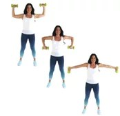Trouble U's Dumbbell Back Exercise being done by trainer Christina Carlyle