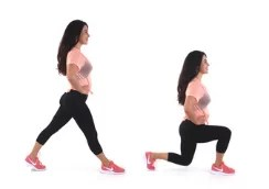 Lunge Butt and Thigh Exercise done by Christina Carlyle