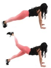 Marching Plank Flat Stomach Ab Exercise being done by Christina Carlyle