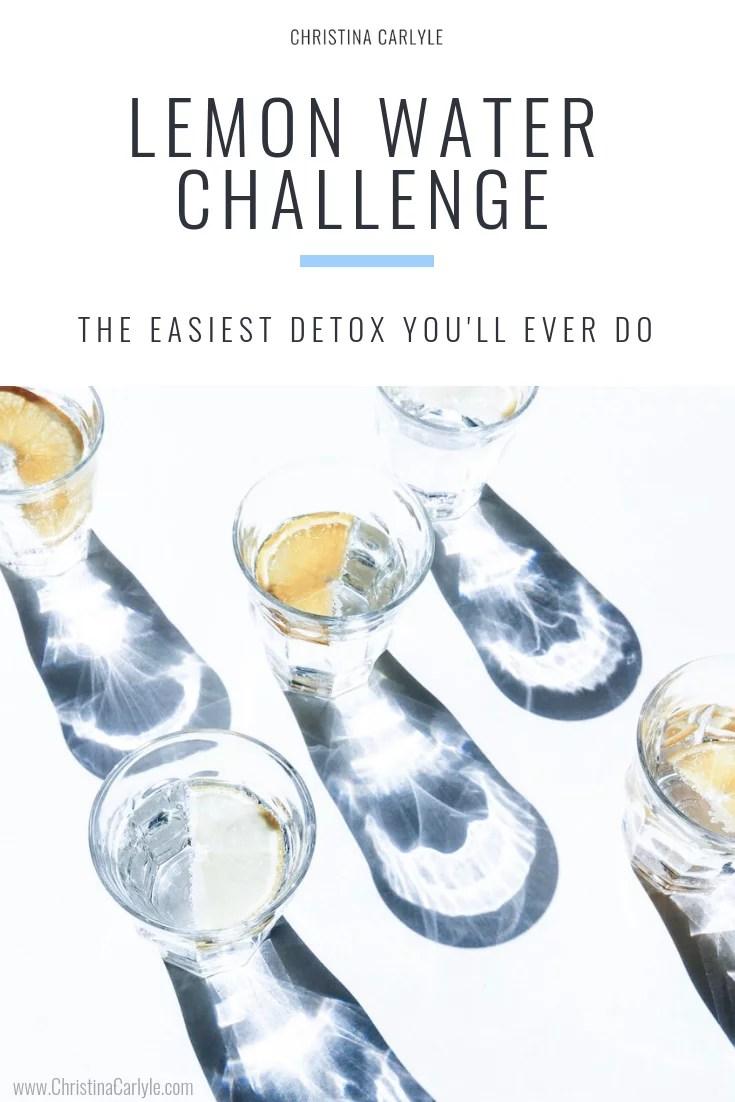 Lemon water challenge