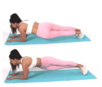 Hip Dip Plank done by Christina Carlyle