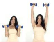 Arnold Press Bicep Exercise done by Christina Carlyle