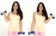 Concentration Curl Bicep Exercise done by Christina Carlyle