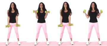 In and Out Curl Bicep Exercise done by Christina Carlyle