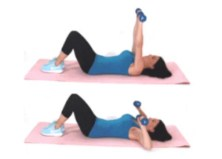 Chest Press Dumbbell Arm Exercise done by Christina Carlyle