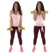 Bicep Curls Arm Exercise with Weights being done by trainer Christina Carlyle