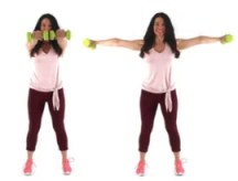 In and Out Extensions Arm Exercise being done by trainer Christina Carlyle