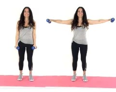 Side Extensions Arm Exercise being done by trainer Christina Carlyle
