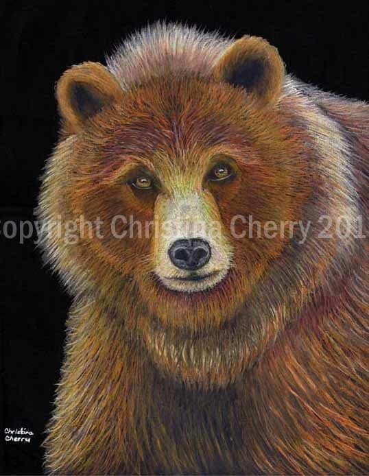 Christina Cherry Art Bear Totem Animal