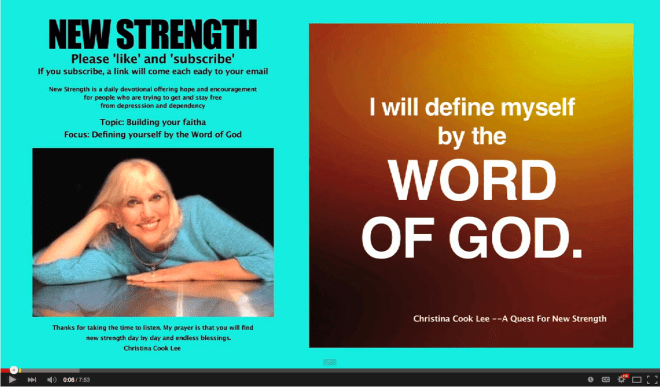 I will define myself by the Word of God. --Christina Cook Lee, A Quest For New Strength