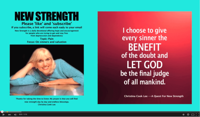I choose to give every sinner the benefit of the doubt and let God be the final judge of all mankind. --Christina Cook Lee, A Quest For New Strength