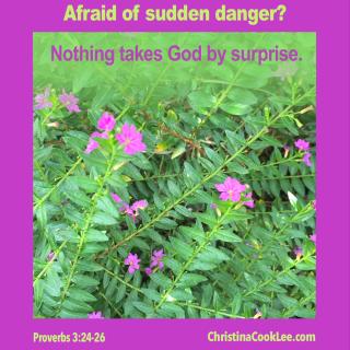 Afraid of sudden danger?