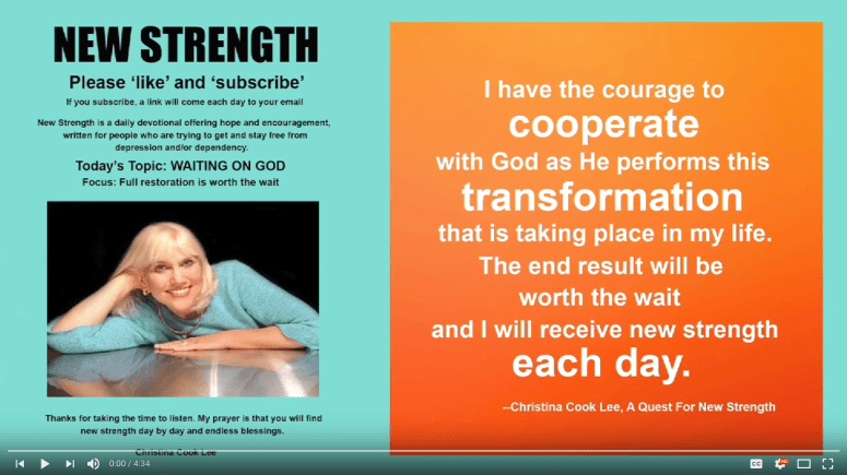 Link to the audio version, New Strength, Waiting on God, Full restoration is worth the wait