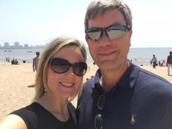 doug and I on beach