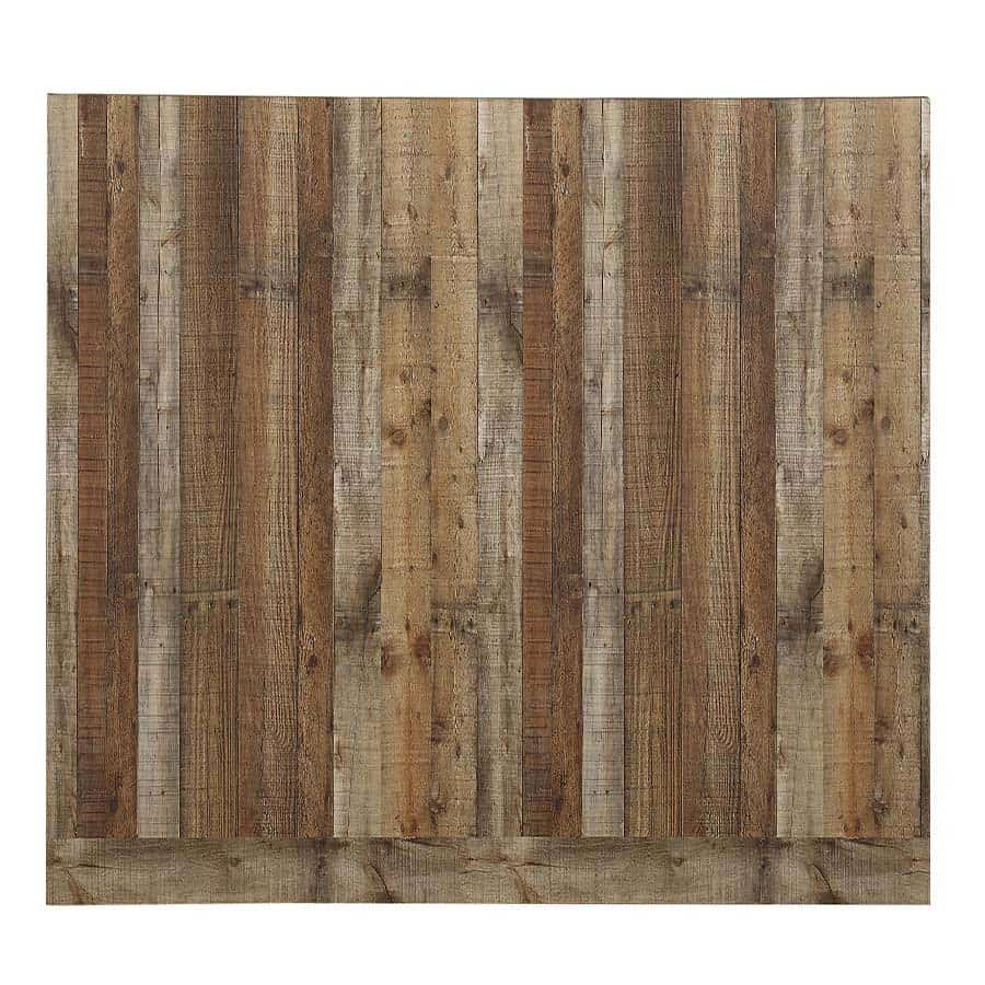 Faux Wood Panel.