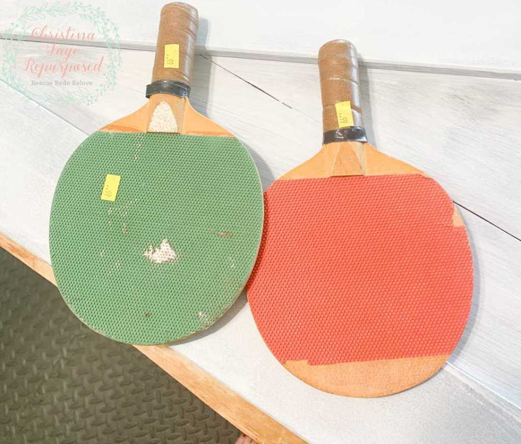 Thrift Store Upcycle Ping Pong Paddles