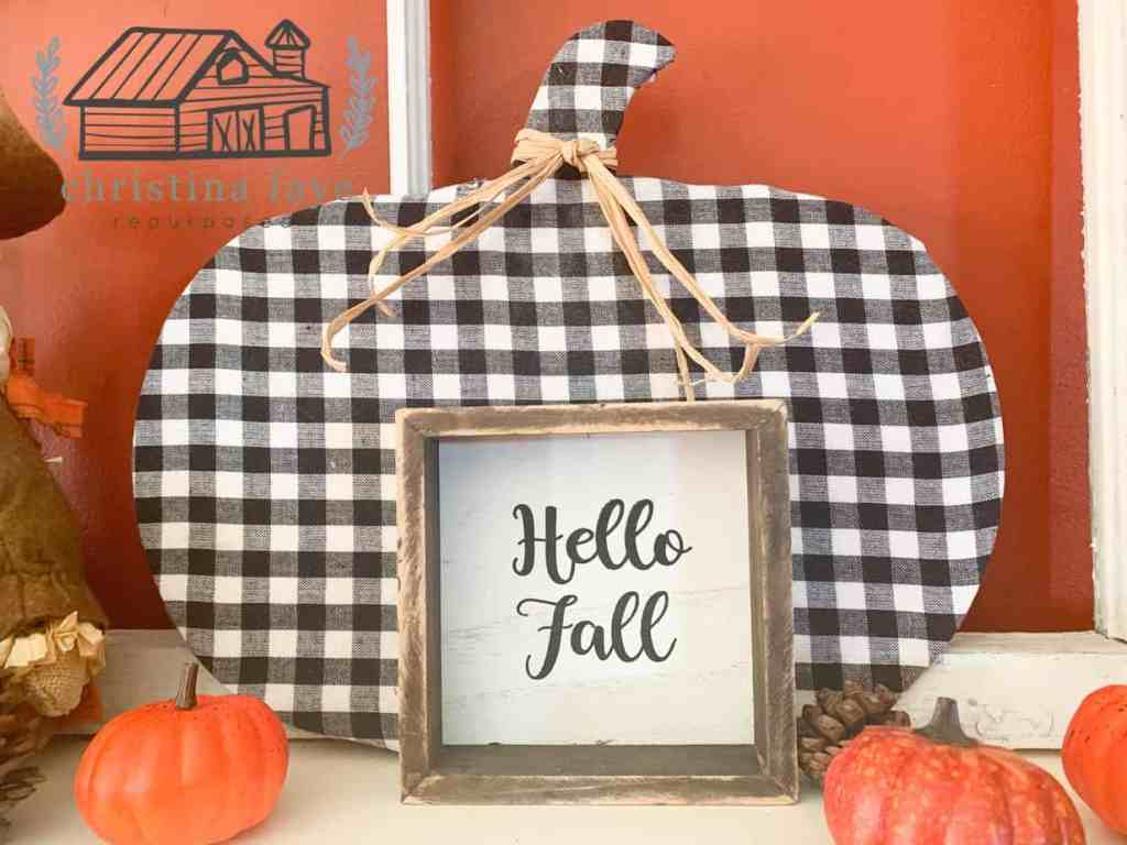 "Hobby Lobby ""Hello Fall"" Sign"