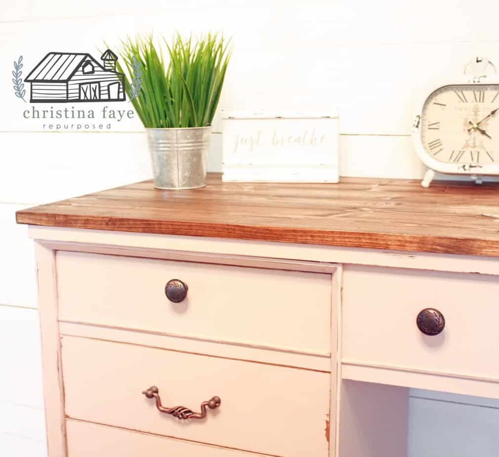 Upcycled Sewing Table with New Pulls and Knobs
