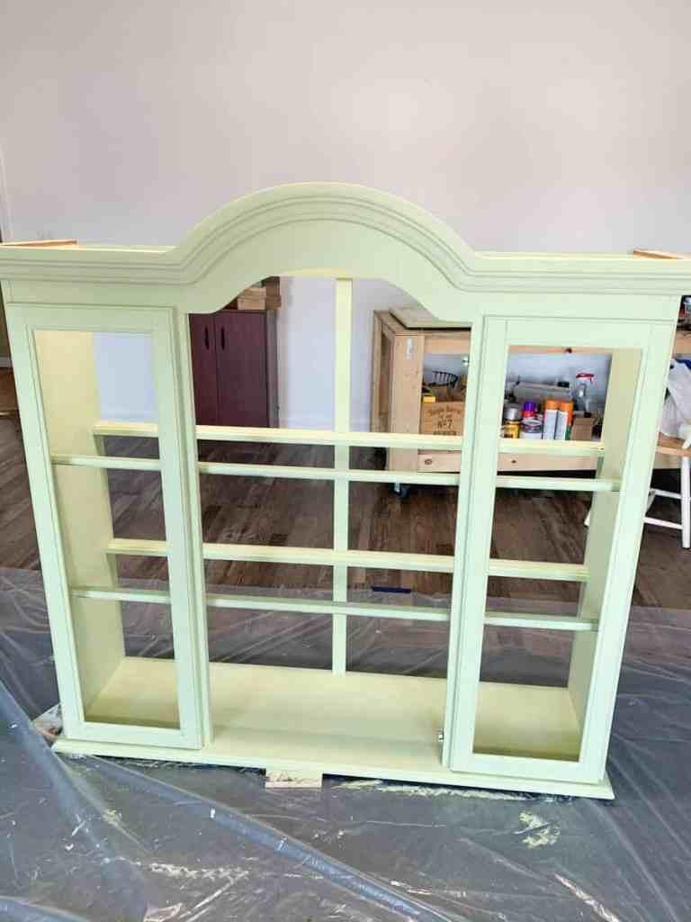 Painted Repurposed Hutch Top