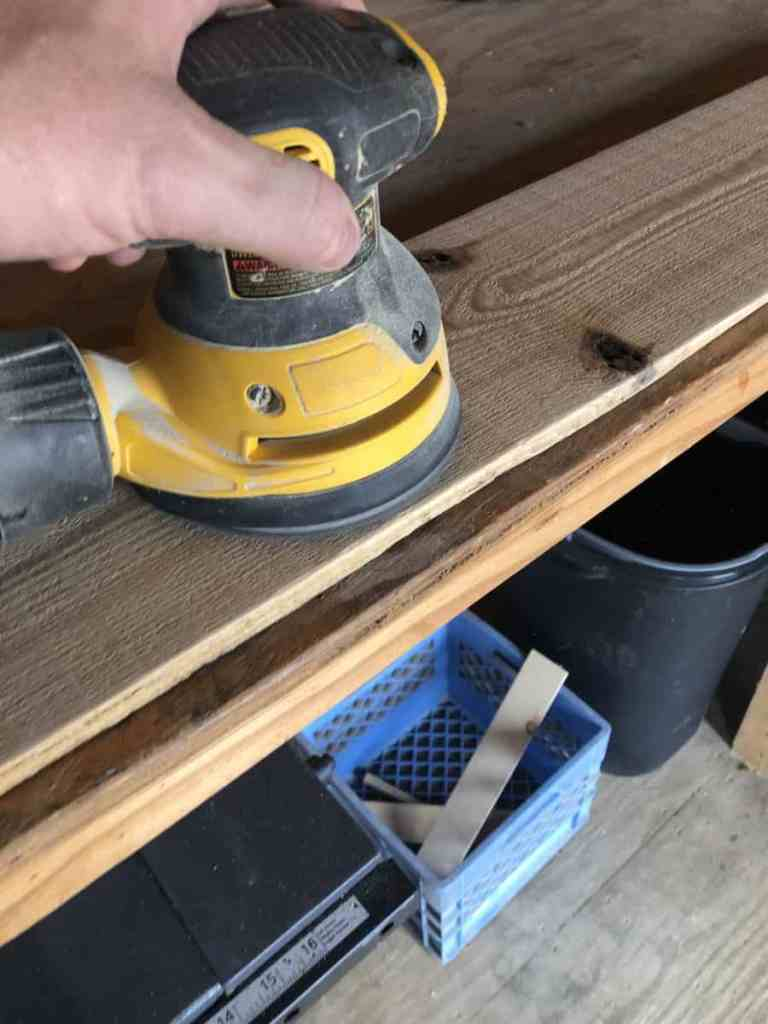 Sanding Pine Boards