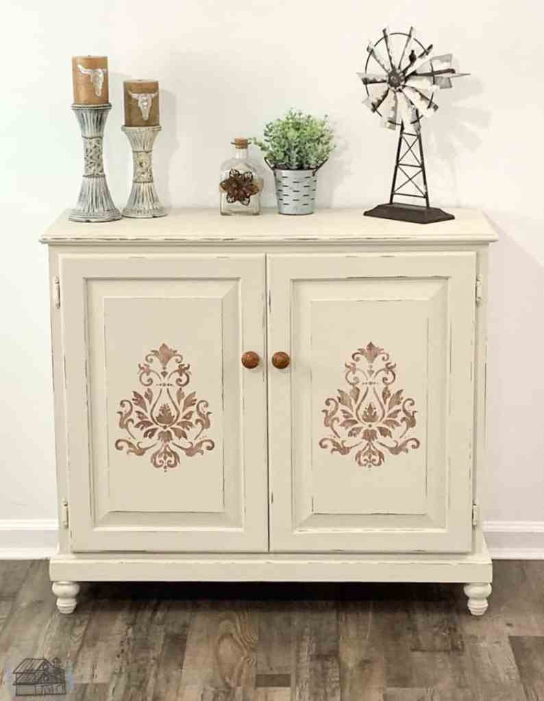 After picture of repurposed kitchen cabinet