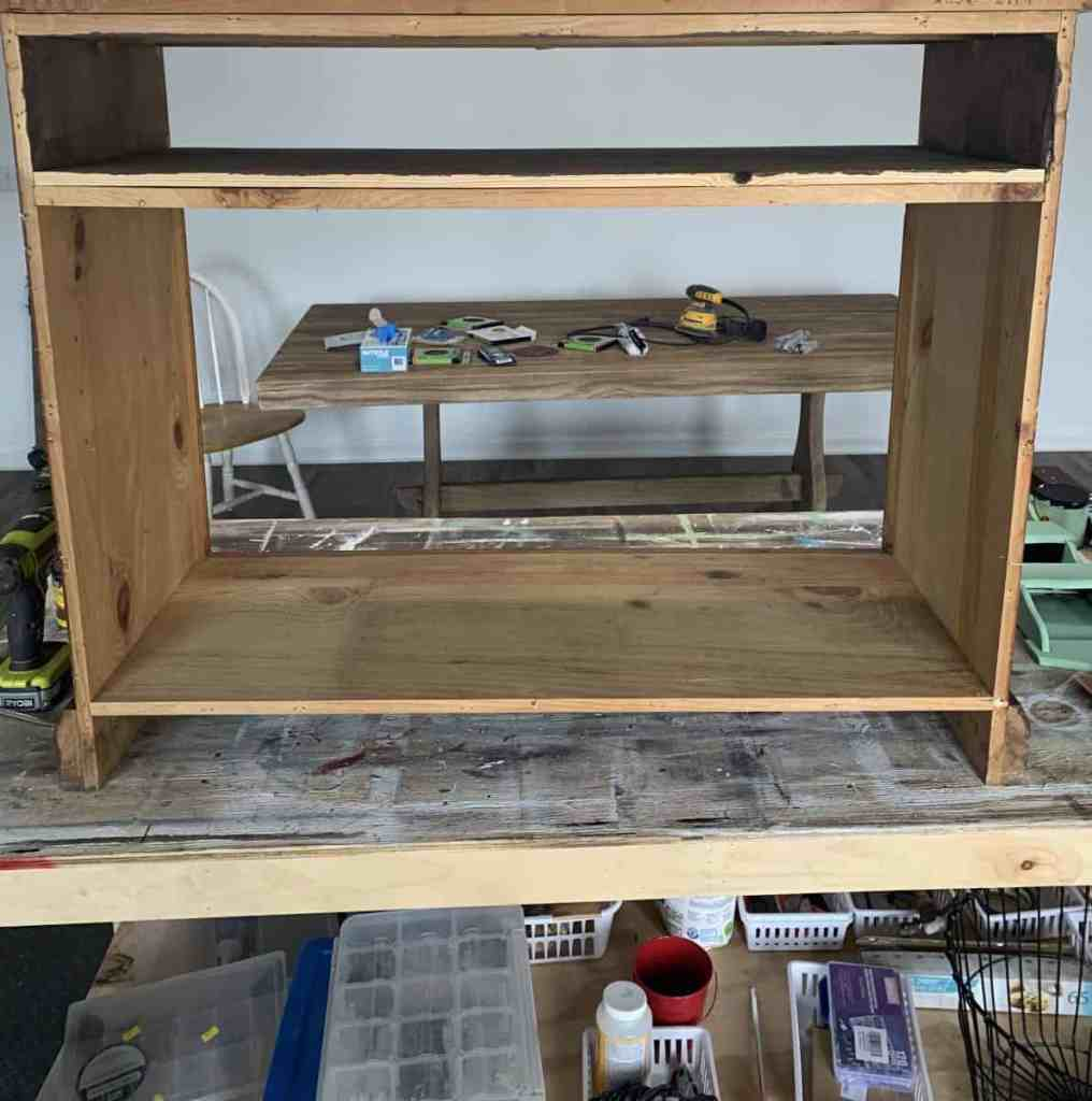 Doors, Back and Top Removed From Sideboard Cabinet