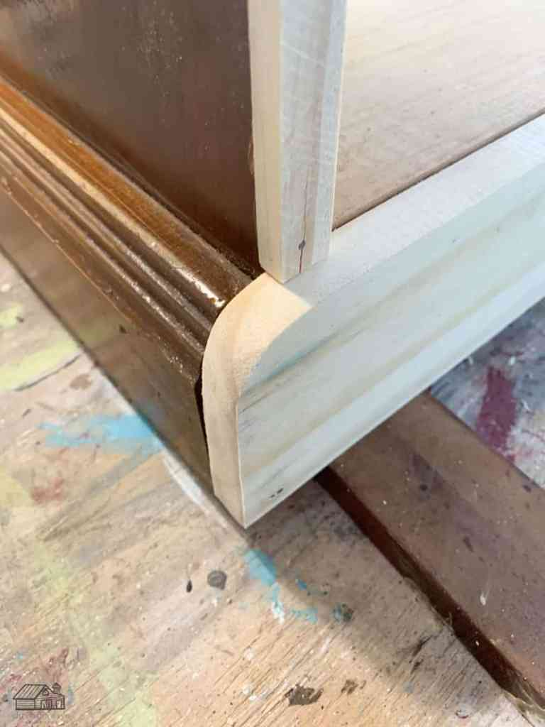 Trim Added to Bottom of Sideboard Cabinet