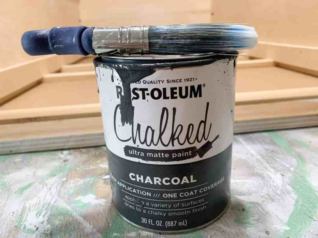 Can of Rust-Oleum Charcoal Paint