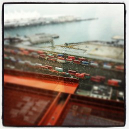 Behind the big 'W' Woodward's - Vancouver - January 2012