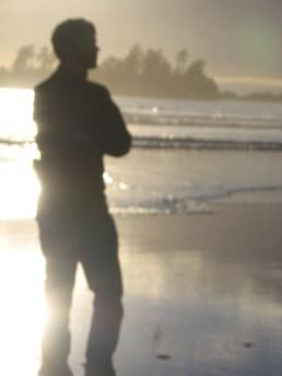 Brian on Chesterman Beach, Tofino - Fall 2006