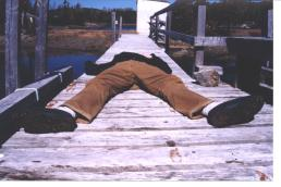Brian in Lawrence's Harbour - Spring 2003