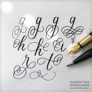 Lær at dekorere dine bogstaver med flourishing - snirkler, skørner, sving og kruseduller