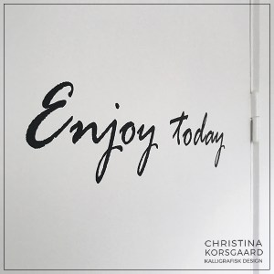 wallsticker - 'Enjoy today' konfirmationsgave
