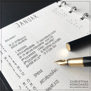 Bullet journaling - månedsoversigt