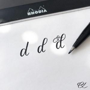 Flourishing af bogstavet d