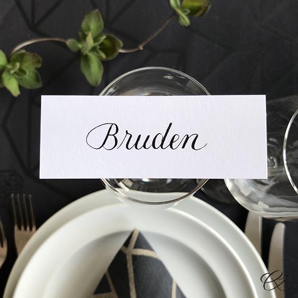 Bordkort - bruden