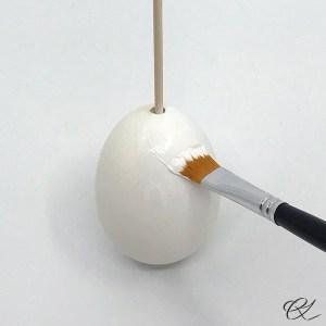 Mal påskeægget hvidt
