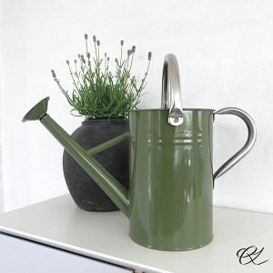 Grøn vandkande og lavendel