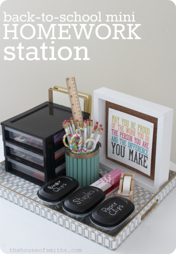 Back to School Homework Station - Krylon Mystery Box Challenge - thehouseofsmiths.com