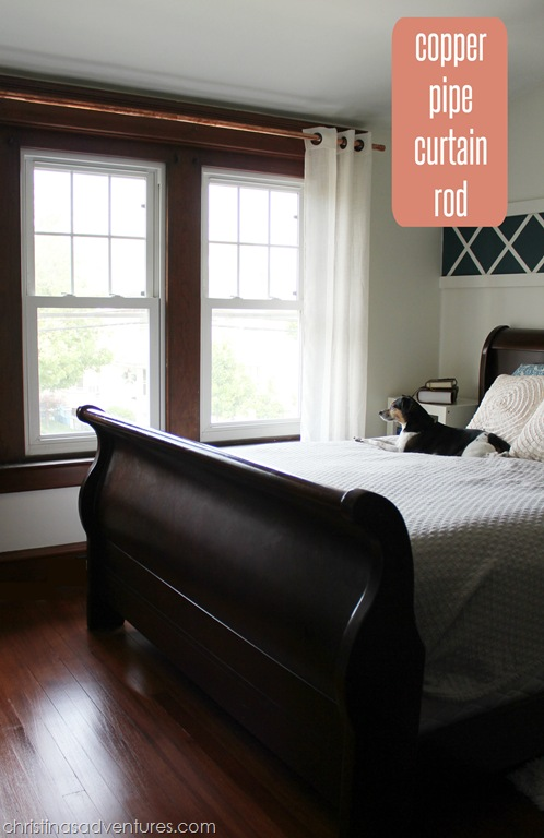 thrifty copper pipe curtain rod