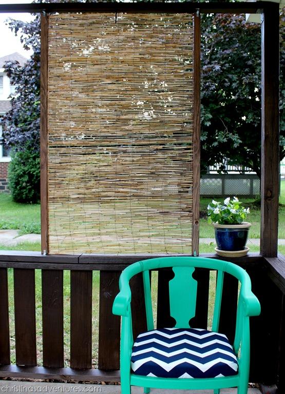 diy bamboo privacy screen christina