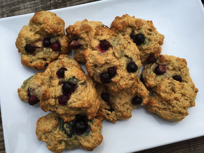blueberry cornmeal scones