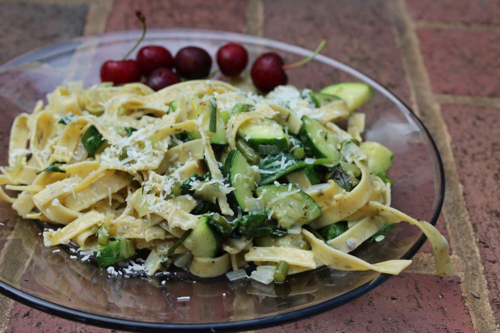 Herby Alfredo Pasta Dinner