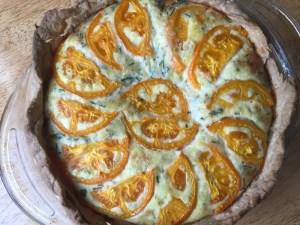 tomato-topped quiche