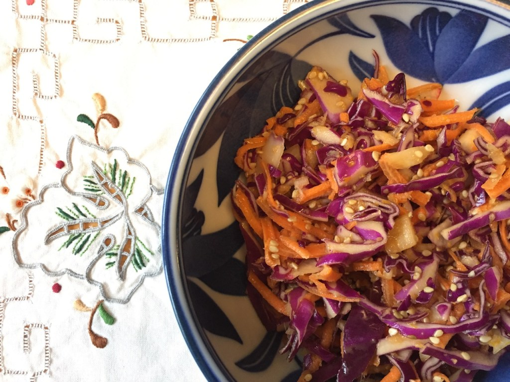 Orange Ginger Sesame Slaw