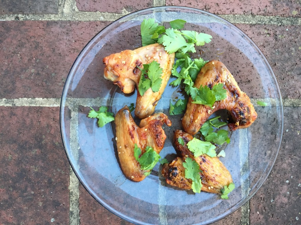 chicken wings with yogurt honey sauce